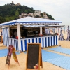 Chiringuito de Madera Lisboa  vista 2 playa Indurrieta San Sebastian