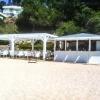 Chiringuito de madera Cancún y pérgola Cap roig de Calonge vista 1