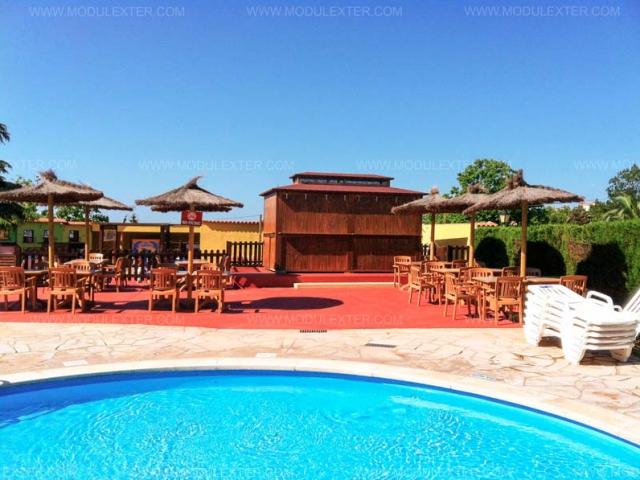 Chiringuito de madera Ibiza Marineland vista 7