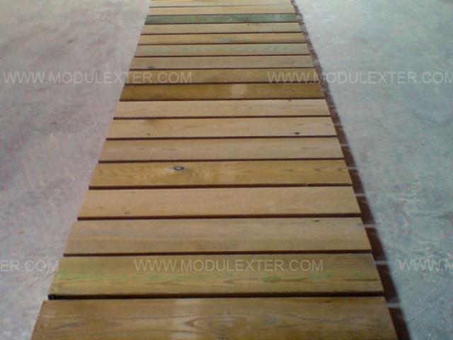 Pasarela de madera enrollable Vista 2