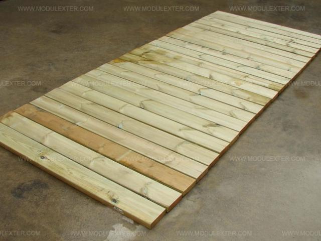 Pasarela de madera enrollable Vista 3