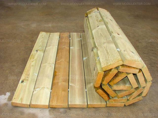 Pasarela de madera enrollable Vista 4