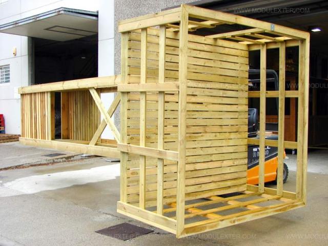 Torre de vigilancia de madera Vista 2