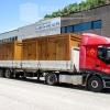 Transporte aseos de madera